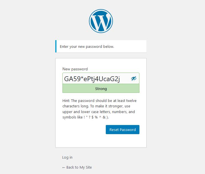 Reset New Password